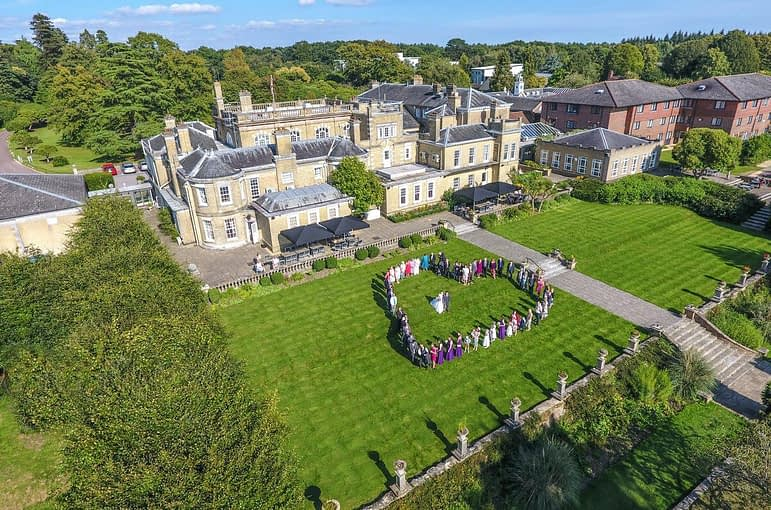 Aerial Wedding Photos